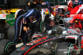 Sebastian Vettel, Red Bull Racing takes a look at the McLaren