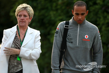 Carmen the mother of Lewis Hamilton, McLaren Mercedes Lewis Hamilton and McLaren Mercedes
