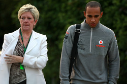 Carmen the mother of Lewis Hamilton, McLaren Mercedes Lewis Hamilton and McLaren Mercedes