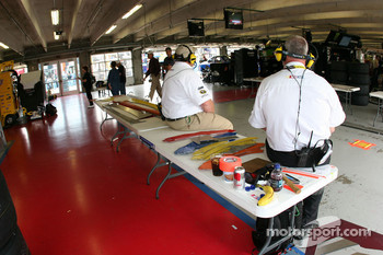 NASCAR inspection area