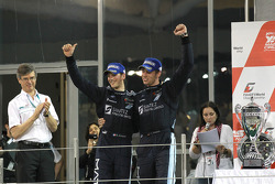 Podium: race winners Romain Grosjean and Thomas Mutsch celebrate