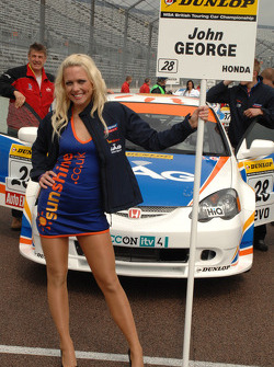 John George's grid girl