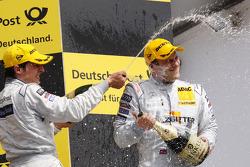 Podium: race winner Gary Paffett, Team HWA AMG Mercedes C-Klasse and second place Bruno Spengler, Team HWA AMG Mercedes C-Klasse