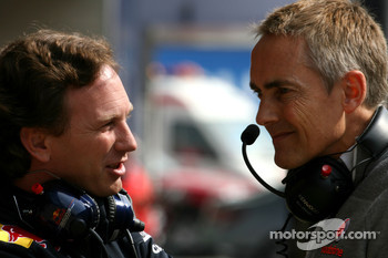 Christian Horner, Red Bull Racing, Sporting Director and Martin Whitmarsh, McLaren, Chief Executive Officer