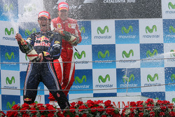 Podium: race winner Mark Webber, Red Bull Racing, second place Fernando Alonso, Scuderia Ferrari, third place Sebastian Vettel, Red Bull Racing