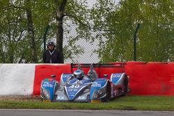 Spin for #40 Quifel ASM Team Ginetta-Zytek 09S: Miguel Amaral, Olivier Pla