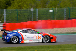 Spin for #90 CRS Racing Ferrari F430 GT: Pierre Ehret, Phil Quaife, Pierre Kaffer