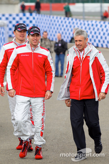 Audi meet the drivers event: Marcel Fässler, Timo Bernhard and Rinaldo Capello