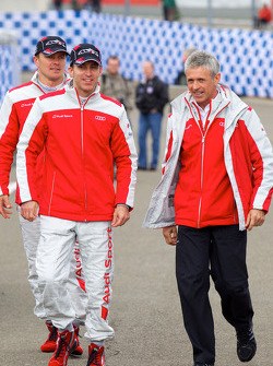 Audi meet the drivers event: Marcel Fässler, Timo Bernhard and Rinaldo Capello