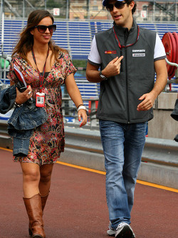 Bruno Senna, Hispania Racing F1 Team and Laia Ferrer Spanish TV Presenter