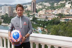 Jenson Button, McLaren Mercedes with Monaco editiion helmets and steering wheels with Steinmetz Diamonds