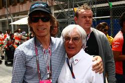 Mick Jagger with Bernie Ecclestone
