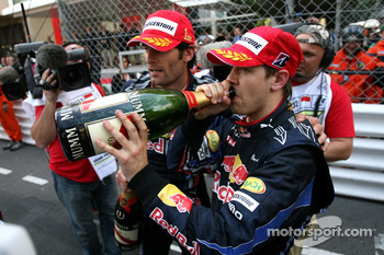 Podium: Sebastian Vettel, Red Bull Racing and Mark Webber, Red Bull Racing