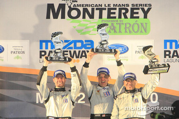 Podium: Prototype Challenge winners #55 Level 5 Motorsports Oreca FLM09: Scott Tucker; Christophe Bouchut; Mark Wilkins