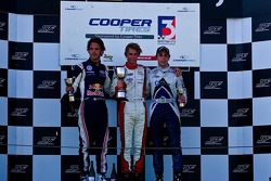 Podium from left: Jean-Eric Vergne, Oli Webb and Gabrial Dias