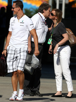 Michael Schumacher, Mercedes GP, Norbert Haug, Mercedes, Motorsport chief, Sabine Kehm, Michael Schumacher's press officer