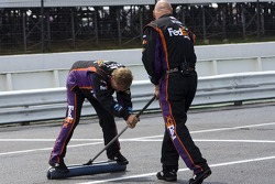 The Joe Gibbs Racing team gets ready
