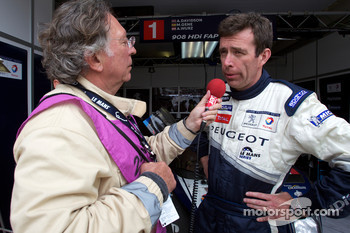 Team Peugeot technical director Bruno Famin gives an interview after the last Team Peugeot 908 retires