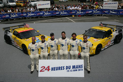 #63 Corvette Racing Chevrolet Corvette C6 ZRL: Jan Magnussen, Johnny O'Connell, Antonio Garcia, #64 Corvette Racing Chevrolet Corvette C6 ZRL: Oliver Gavin, Olivier Beretta, Emmanuel Collard