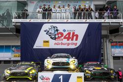 Podium: 1st place #4 AMG-Team Black Falcon, Mercedes-AMG GT3: Bernd Schneider, Maro Engel, Adam Christodoulou, Manuel Metzger, 2nd place #29 AMG-Team HTP Motorsport, Mercedes-AMG GT3: Christian Vietoris, Marco Seefried, Christian Hohenadel, Renger Van der