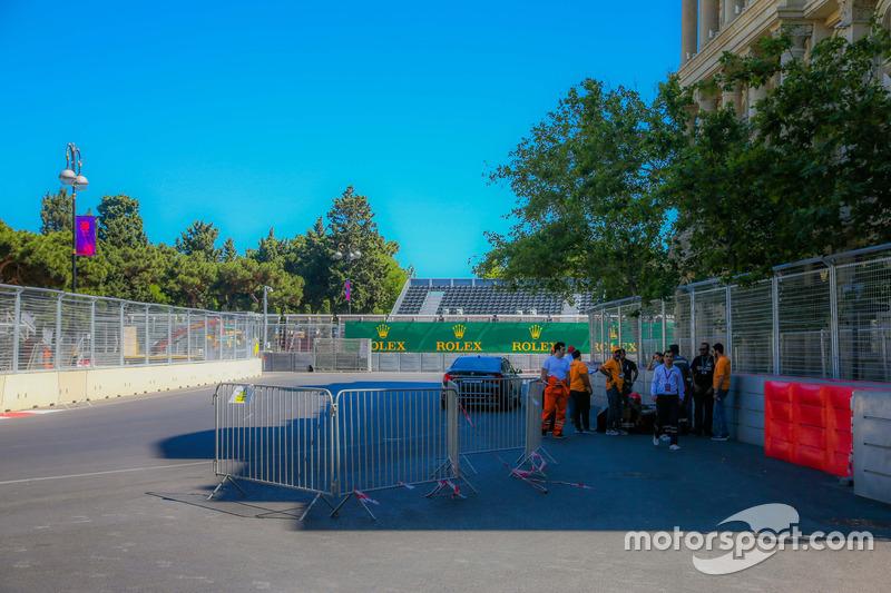 Baku city circuit at turn 5