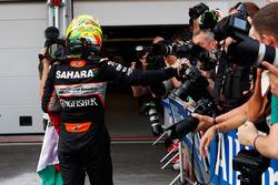 Серхіо Перес, Sahara Force India F1 святкує своє третє місце в закритому парку