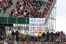 A banner for Nico Rosberg, Mercedes AMG F1
