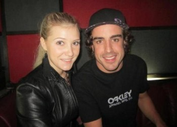 FERNANDO ALONSO AND DASHA KAPUSTINA