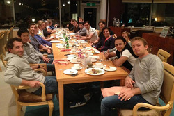 F1 drivers get together for a meal