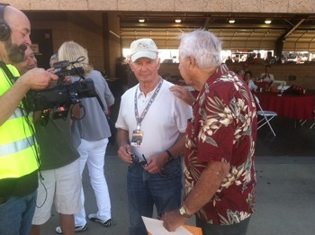 Parnelli Jones joined the crowd of fans
