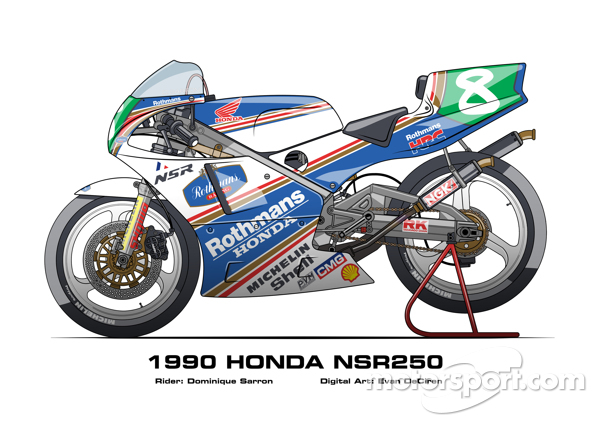 Honda NSR250 - 1990 Dominique Sarron