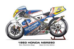 Honda NSR250 - 1993 Massimiliano Biaggi