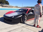 Italian Ace Stefano Gia stands guard over one of his students Ferrari Challenge 458 Italia GT's