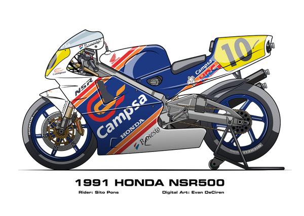Honda NSR500 – 1991 Sito Pons