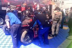 Damage to #60 Michael Shank Racing