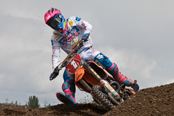 8.	KTM's Kaven Benoit #1 rides consistent to take the top spot overall in the MX2 class