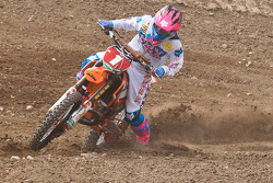 KTM's Kaven Benoit #1 holds on to win the MX2 class overall