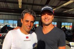 Nelson Piquet Jr. with Juan Pablo Montoya