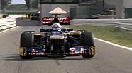 Scuderia Toro Rosso Misano Filming Day 2012
