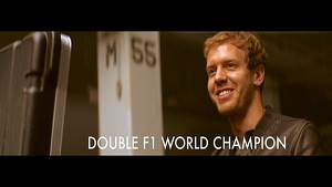 Sebastian Vettel behind the scenes in Melanie Fiona music video