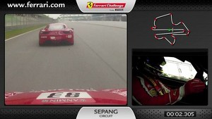 Ferrari 458 Challenge on-board camera: Pasin Lathouras in Sepang