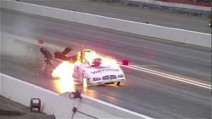 Jack Beckman NHRA Funny Car Explosion
