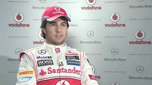 Sergio Perez - Vodafone McLaren Mercedes MP4-28 car reveal