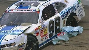 NASCAR Nationwide Swindell and Sweet crash at Iowa 2013