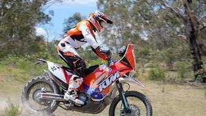 Dakar 2014 rider Ben Grabham KTM