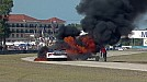 2014 United SportsCar Championship 12 Hours of Sebring Ben Keating SRT Viper GT3-R Huge Fire