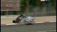 Stéphane Ortelli crash Le Mans Series at Monza 2008