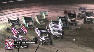 Highlights: World of Outlaws STP Sprint Cars Tri-State Speedway May 10th, 2014