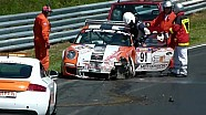 VLN #4: #91 Porsche 911 GT3 Cup crashes