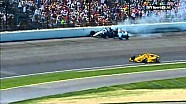 Hinchcliffe & Carpenter Wreck - EC upset - 2014 Indy 500